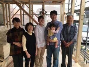上棟式を執り行いました 福岡市 集合写真