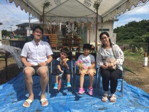 【桂川町】N様邸地鎮祭 家族写真