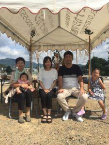 地鎮祭を行いました 飯塚市 家族写真