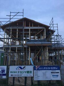 上棟式を行いました 飯塚市 I様邸 外観