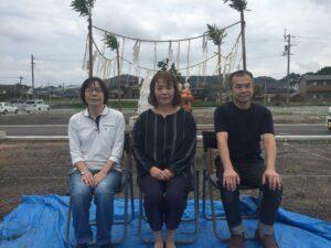 飯塚市 K様邸 地鎮祭 家族写真