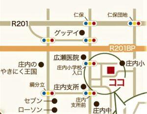 飯塚市綱分 完成見学会 現地地図