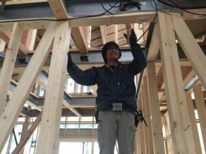 平屋モデルハウス工事 電気工事
