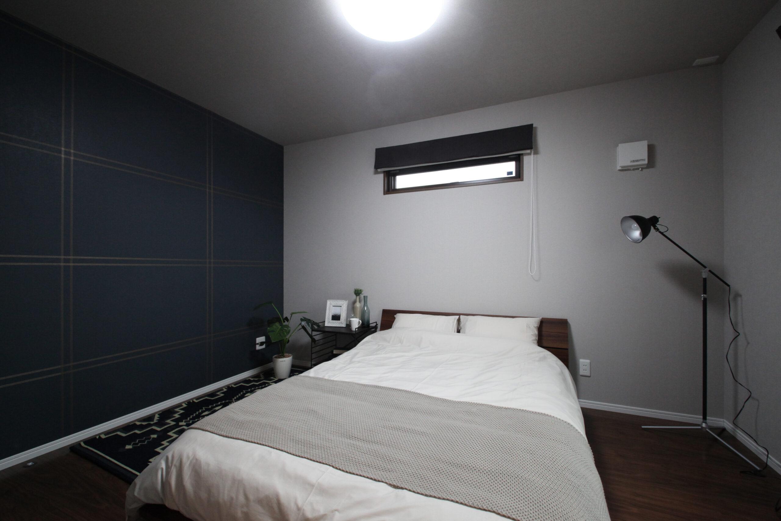 中二階スキップフロアのある家 寝室