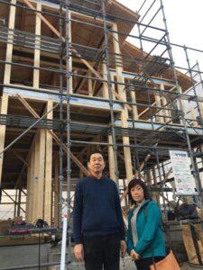 飯塚市T様邸上棟しました 家族写真