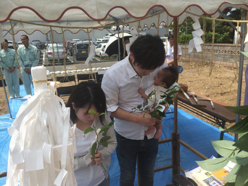 【平屋】飯塚市M様邸地鎮祭 儀式