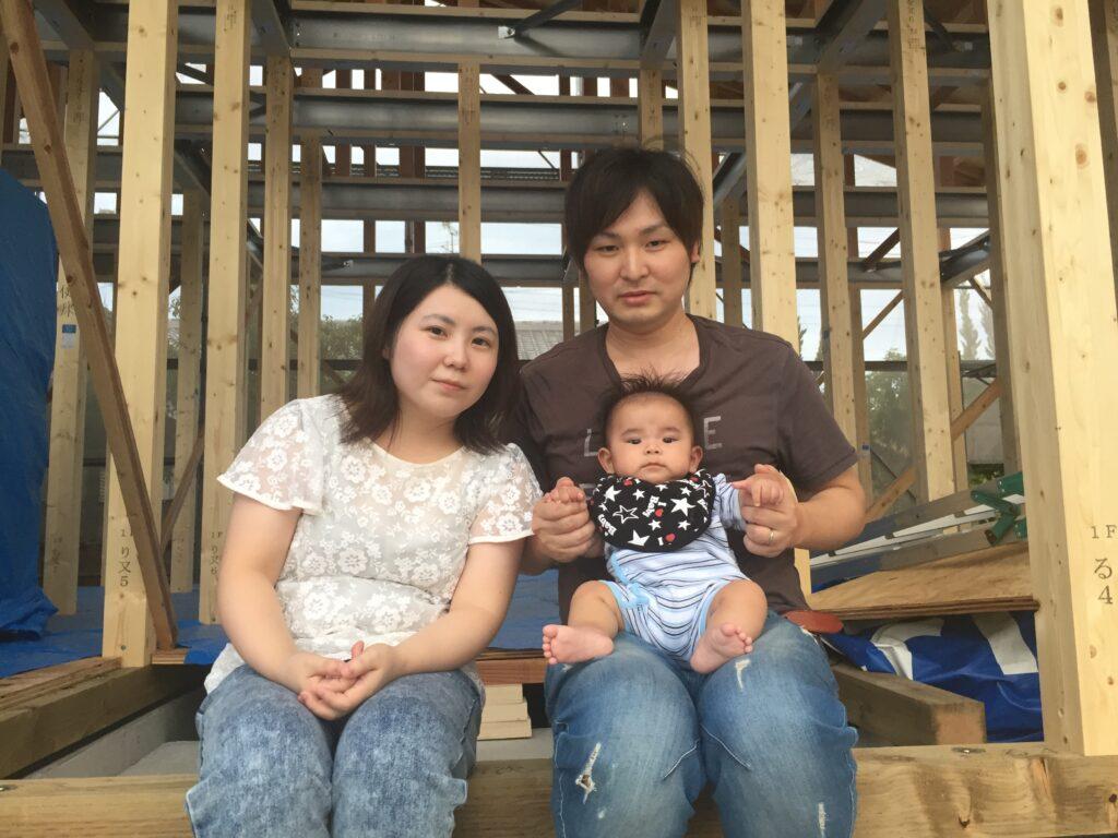 【飯塚市】M様邸上棟 家族写真