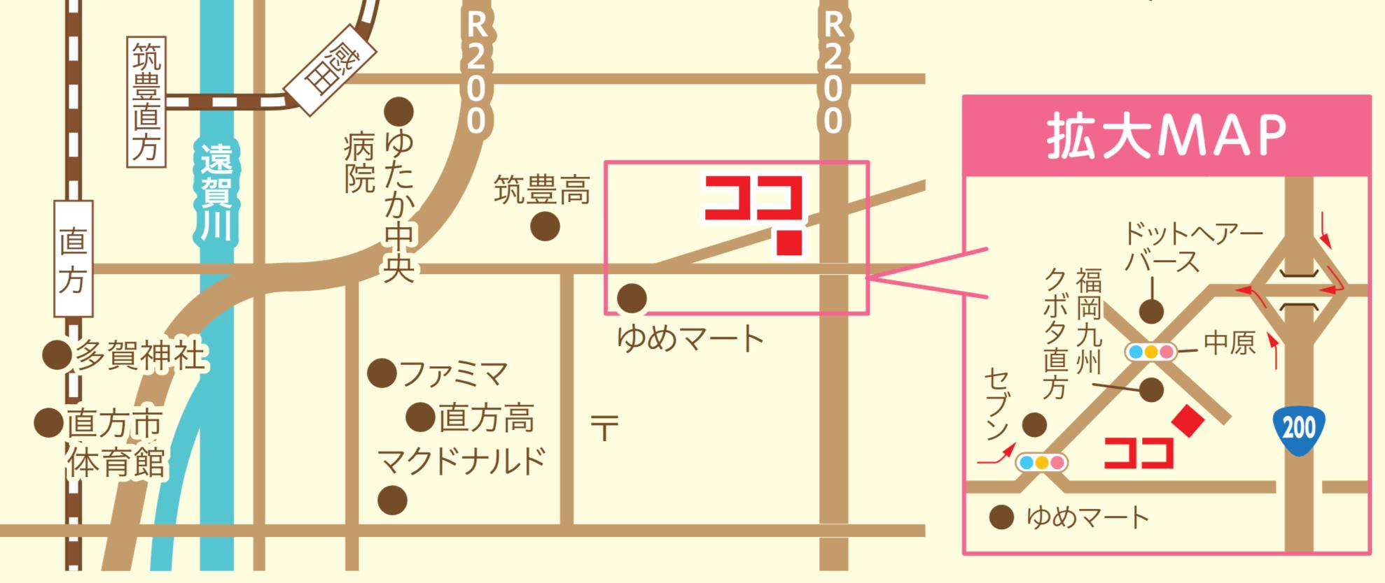 「広々リビング平屋のお家」の完成見学会 地図