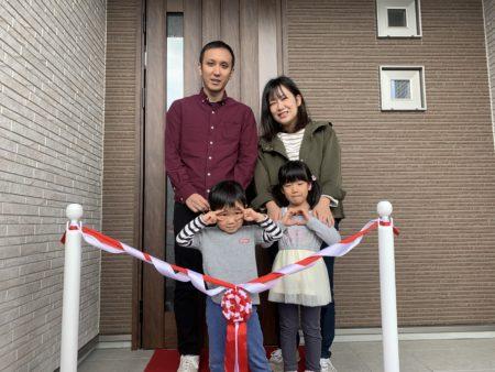 【直方市】T様邸お引き渡し式 家族写真
