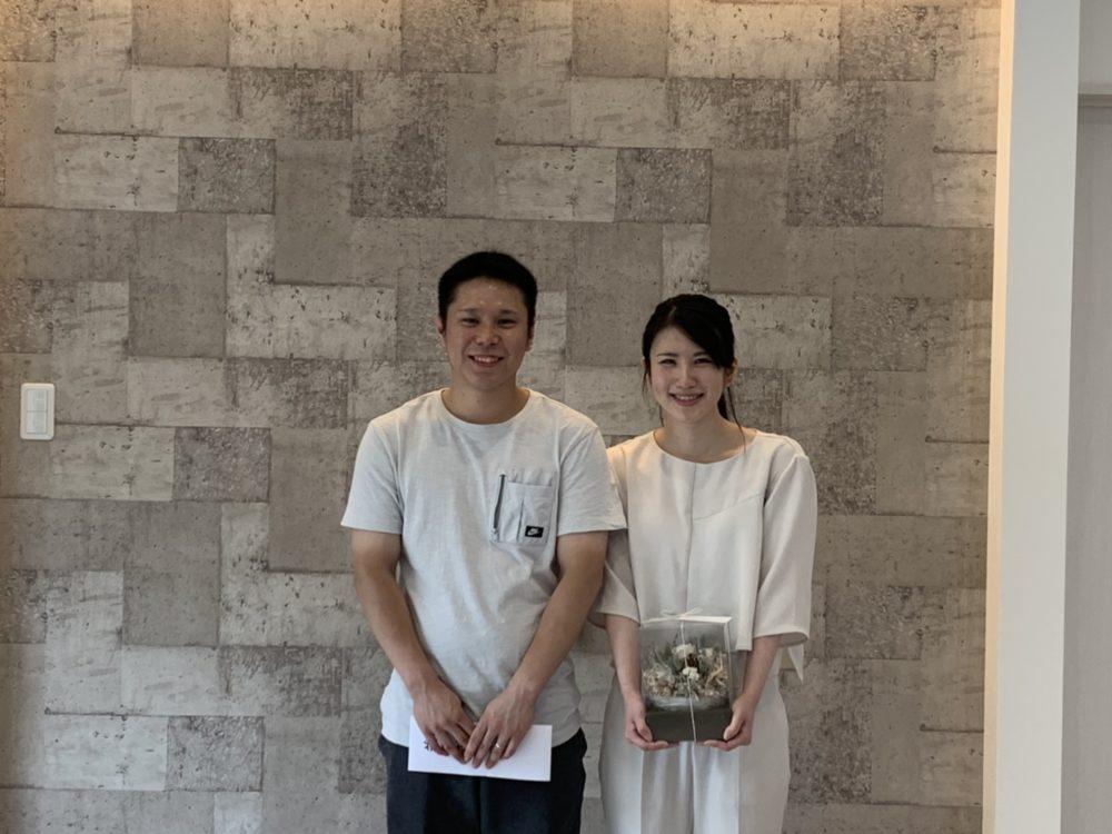 飯塚市【K様邸】お引渡し ご夫婦でパチリ