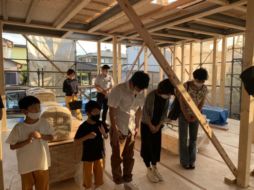 飯塚市S様邸上棟式 上棟式の風景