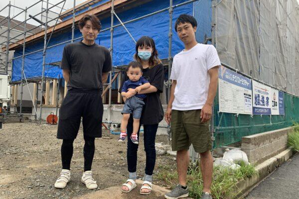 【飯塚市】I様邸上棟 家族写真