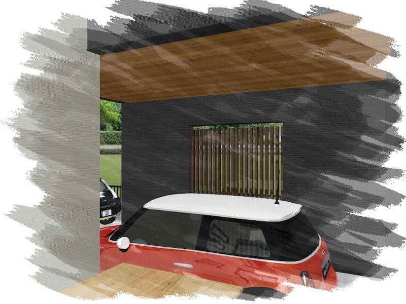 ガレージ完成パース 新モデルハウスのコンセプトは「おうち時間が楽しくなる」です!